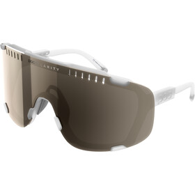POC Devour Sunglasses, transparant crystal/brown silver mirror